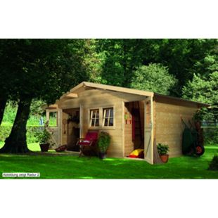 Woodfeeling Radur 0 Gartenhaus, naturbelassen - Bild 1