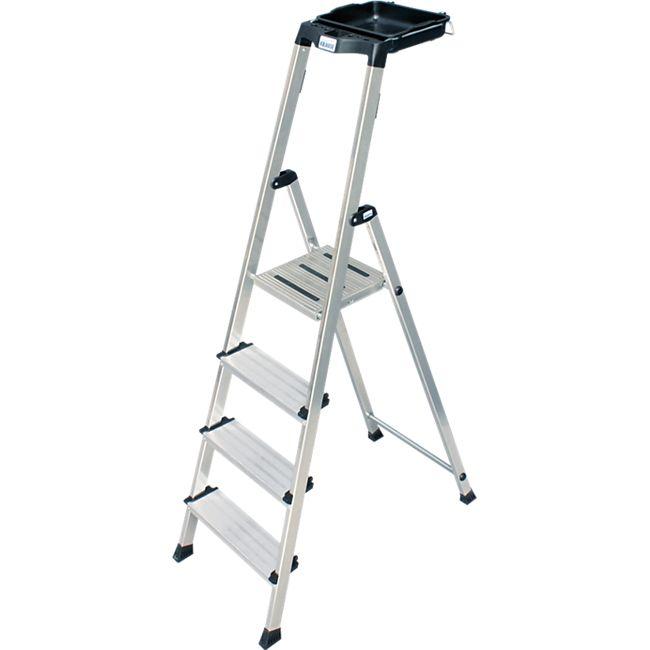 """Krause """"Secury"""" Stufen-Stehleiter mit MultiGrip-System, 4 Stufen - Bild 1"""