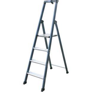"""Krause """"SePro"""" Stufen-Stehleiter, eloxiert - 4 Stufen - Bild 1"""