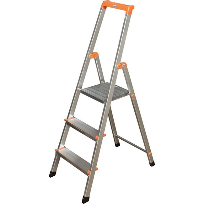 """Krause """"Solidy"""" Stufen-Stehleiter, 3 Stufen - Bild 1"""