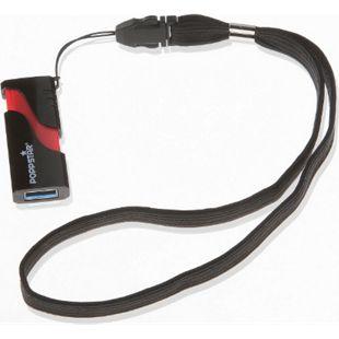 Poppstar Handgelenktrageband für Digitalkameras, USB-Stick, MP3-Player Handys und Smartphones - schwarz - Bild 1