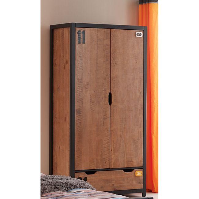Vipack Kleiderschrank 2-trg. Alex Kiefer gebürstet - Bild 1