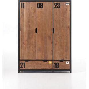 Vipack Kleiderschrank 3-trg. Alex Kiefer gebürstet - Bild 1