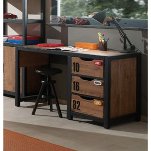 Vipack Schreibtisch Alex Kiefer gebürstet - Bild 1