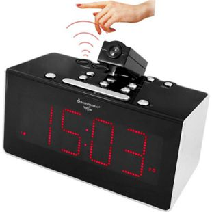 Soundmaster  FUR6005 Funkgesteuertes Uhrenradio mit Projektion & IR-Sensor - Bild 1