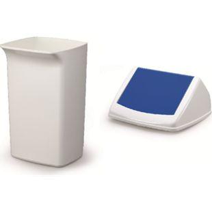 Abfallbehälter-Set DURABIN Flip 40 Liter, weiß/blau - Bild 1