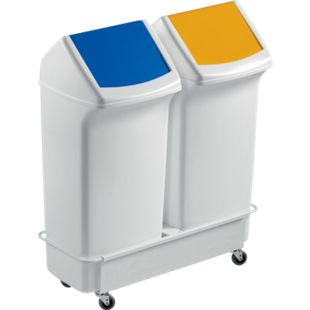 Fahrwagen für 2 x  DURABIN FLIP 40 Liter, weiß - Bild 1