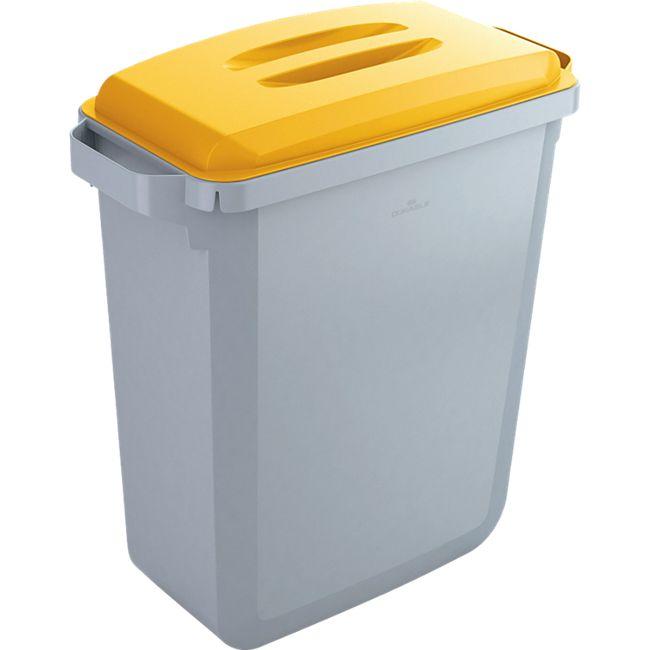 Abfallbehälter-Set DURABIN 60 Liter, grau/gelb - Bild 1