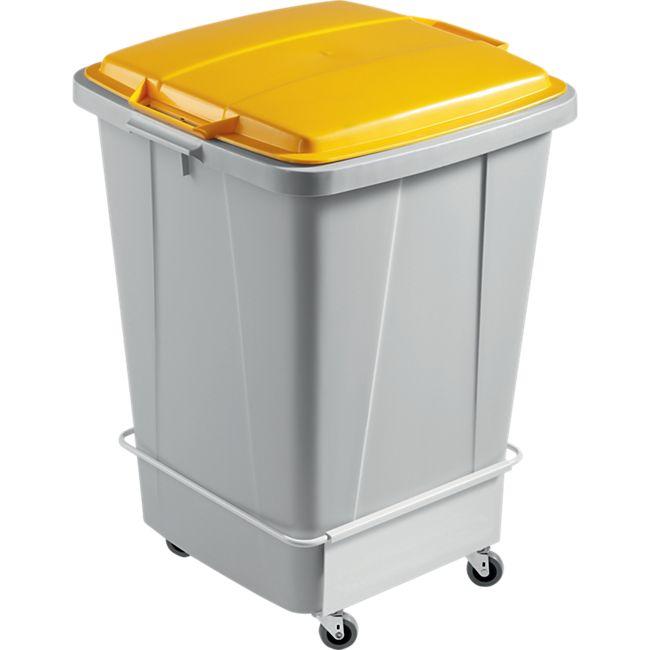 Fahrwagen für DURABIN 90 Liter, weiß - Bild 1