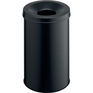Papierkorb mit Flammlöschkopf, 30 Liter, schwarz - Bild 1