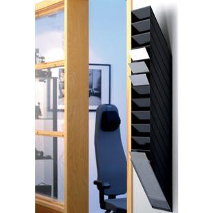 Prospektspender-Set FLEXIBOXX 12 A4, schwarz - Bild 1