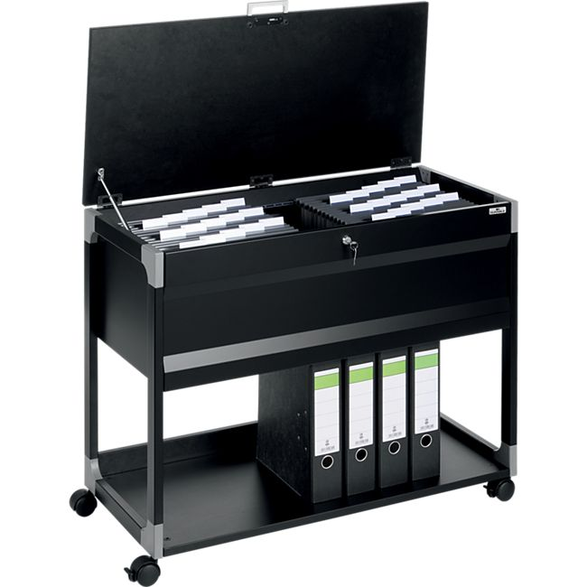 Durable Hängemappenwagen SYSTEM FILE TROLLEY 100 MULTI TOP - schwarz - Bild 1