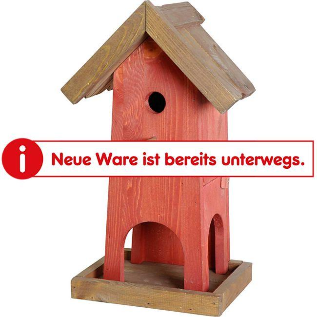 Dobar Futterhaus-Nistkasten-Kombination-Rot-Braun - Bild 1