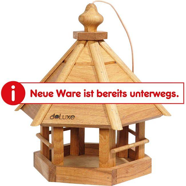 Robustes Eiche-Vogelhaus Komfort, sechseckig - Bild 1