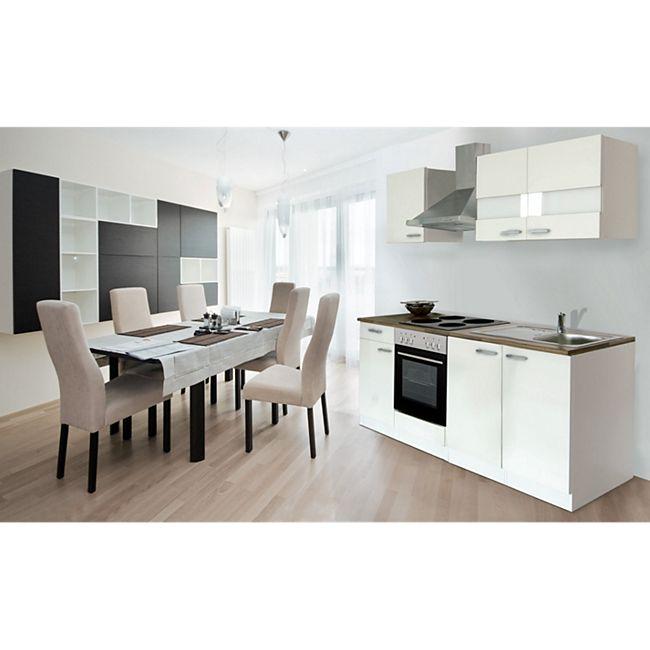 Respekta Küchenzeile KB210WW 210 cm Weiß - Bild 1