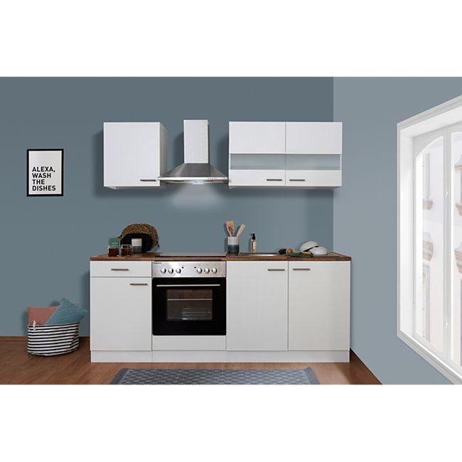 Respekta Küchenzeile KB210WWC 210 cm Weiß - Bild 1