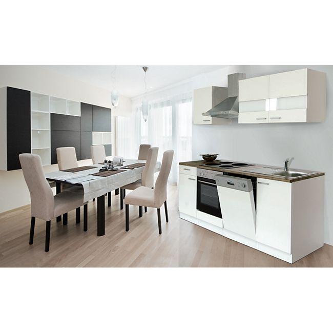 Respekta Küchenzeile KB220WW 220 cm Weiß - Bild 1