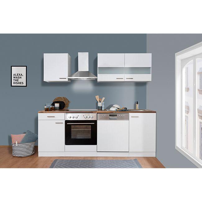 Respekta Küchenzeile KB220WWC 220 cm Weiß - Bild 1