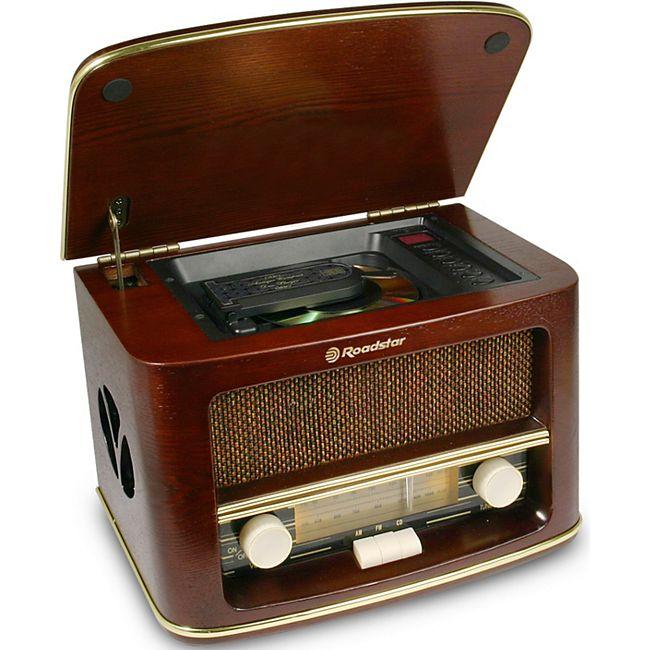 Roadstar HRA-1500MP Classic Stereo UKW/MW Radio mit CD-MP3 Player RETRO Classics - Bild 1