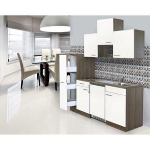 Respekta Küchenzeile KB180EYWC 180 cm Weiß-Eiche York Nachbildung - Bild 1