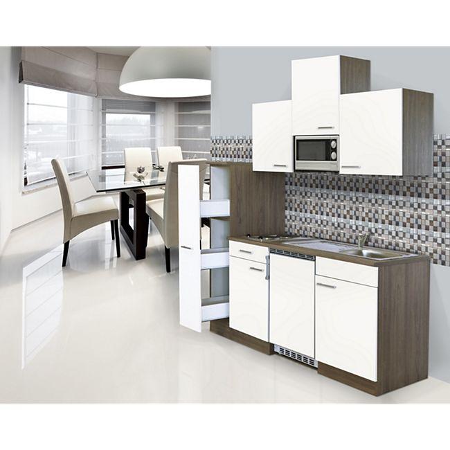 Respekta Küchenzeile KB180EYWMI 180 cm Weiß-Eiche York Nachbildung - Bild 1