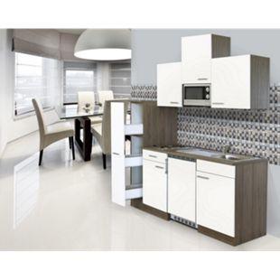 Respekta Küchenzeile KB180EYWMIC 180 cm Weiß-Eiche York Nachbildung - Bild 1