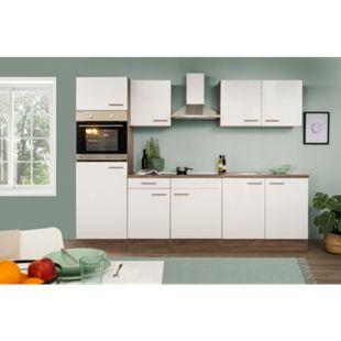 Respekta Küchenzeile KB270EYW 270 cm Weiß-Eiche York Nachbildung - Bild 1