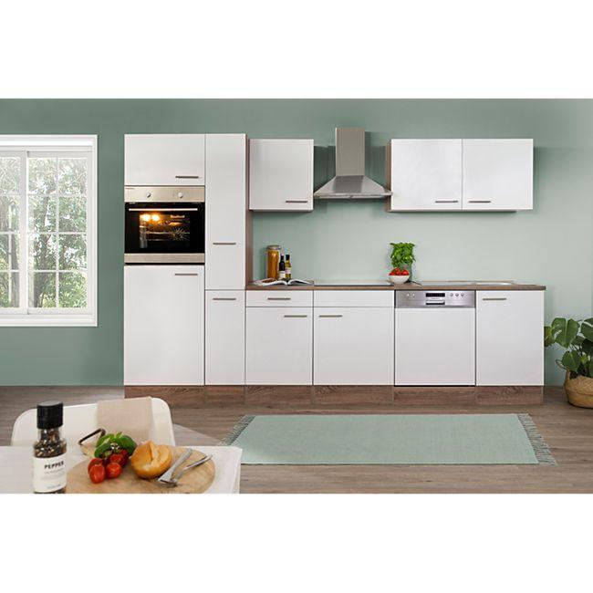 respekta k chenzeile kb310eyw 310 cm wei eiche york nachbildung online kaufen netto. Black Bedroom Furniture Sets. Home Design Ideas