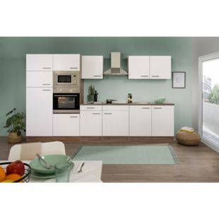 Respekta Küchenzeile KB330EYWMIGKE 330 cm Weiß-Eiche York Nachbildung - Bild 1