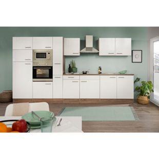 Respekta Küchenzeile KB360EYWMIGKE 360 cm Weiß-Eiche York Nachbildung - Bild 1