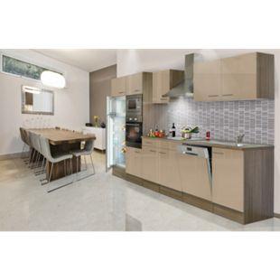 Respekta Küchenzeile KB340EYCMIGKE 340 cm Cappuccino-Eiche York Nachbildung - Bild 1