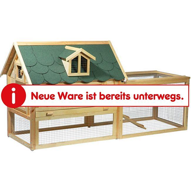 """Dobar Luxus-Kleintierstall """"Open Sky"""" mit Freigehege und Schiebedach - Bild 1"""