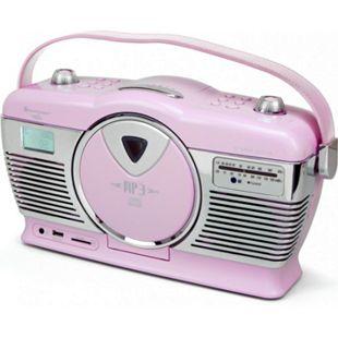 Soundmaster RCD1350PI Retro CD/MP3/USB Radio in pink - Bild 1