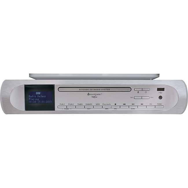 Soundmaster UR2170SI CD/MP3 Musik-Center Unterbau mit DAB+/PLL-Radio mit USB in silber - Bild 1