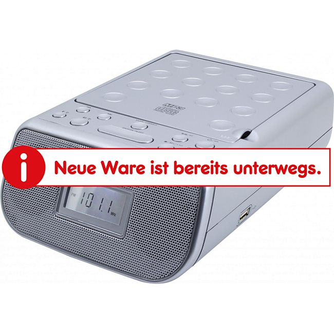 Soundmaster URD860SI CD-Uhrenradio mit MP3/USB - silber - Bild 1
