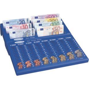 Rottner Cash Concept Notes Geldzählbrett mit 7 Geldschein- und 8 Münzgeldzählfächern - Bild 1