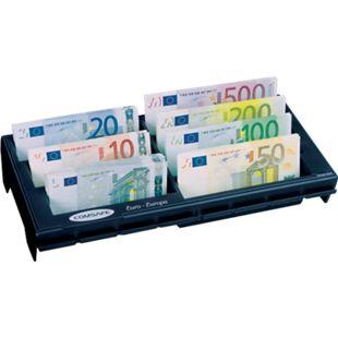 Rottner Cash Notes Geldzählbrett mit 7 Geldscheinfächern schwarz - Bild 1