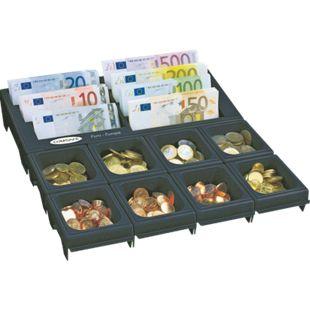 Rottner Cash Notes Geldzählbrett mit 7 Geldschein- und 8 Münzfächern schwarz - Bild 1