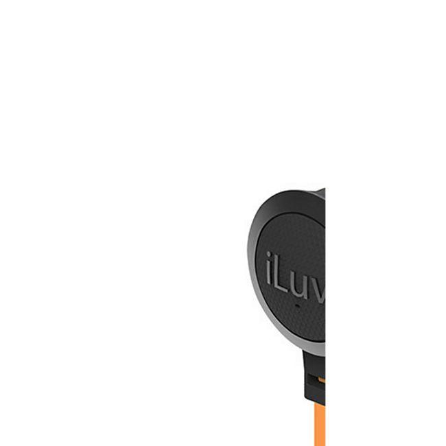 iLuv Neon Sound Design In Ear Kopfhöhrer mit Bedienelement Flachbandkabel - orange/schwarz - Bild 1