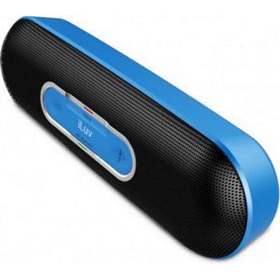 iLuv Rollick kompakter Designer Bluetooth Stereo Lautsprecher - blau - Bild 1