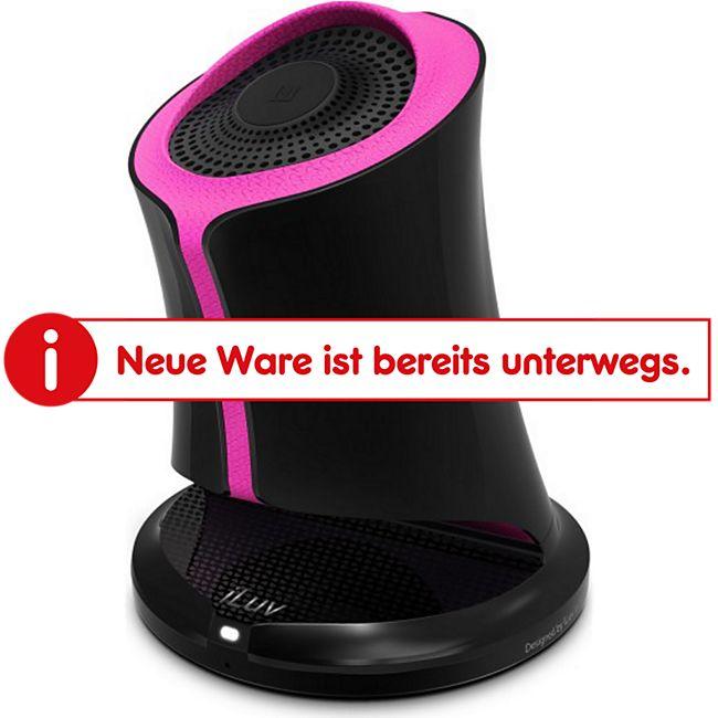 iLuv Syren Bluetooth Lautsprecher in extravagantem Design mit 360 Grad Sound - pink - Bild 1
