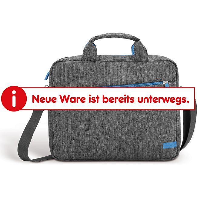 deleyCon Tasche aus Leinen für Notebooks und Laptops bis 13,3 Zoll (33,7 cm) mit verschließbaren Zubehörfächern - Bild 1