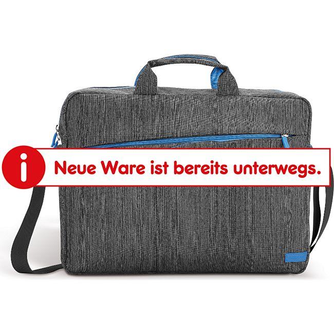 deleyCon Tasche aus Leinen für Notebooks und Laptops bis 17 Zoll (43,2 cm) mit verschließbaren Zubehörfächern - Bild 1