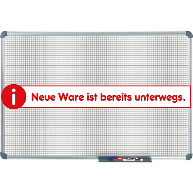 MAUL Whiteboard MAULoffice, Raster 10 x 10 mm - 90 x 120 cm - Bild 1