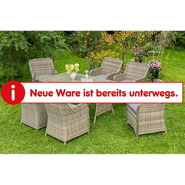 Merxx Tischgruppe Riviera, 13-tlg.inkl.Sessel mit fester Rückenlehne - Bild 1