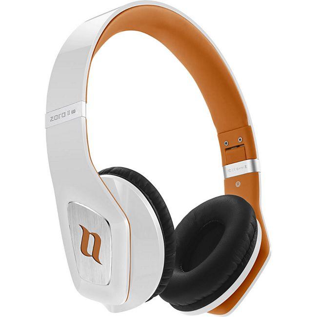 Noontec Zoro II HD On-Ear Kopfhörer weiß/orange - Bild 1