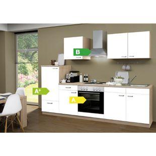 Menke Küchen Küchenzeile Classic 270 cm weiß - 4 Platten Kochfeld - Bild 1