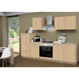 Menke Küchen Küchenzeile Classic 270 cm Sonoma Eiche Nachb. - Glaskeramikkochfeld - Bild 1