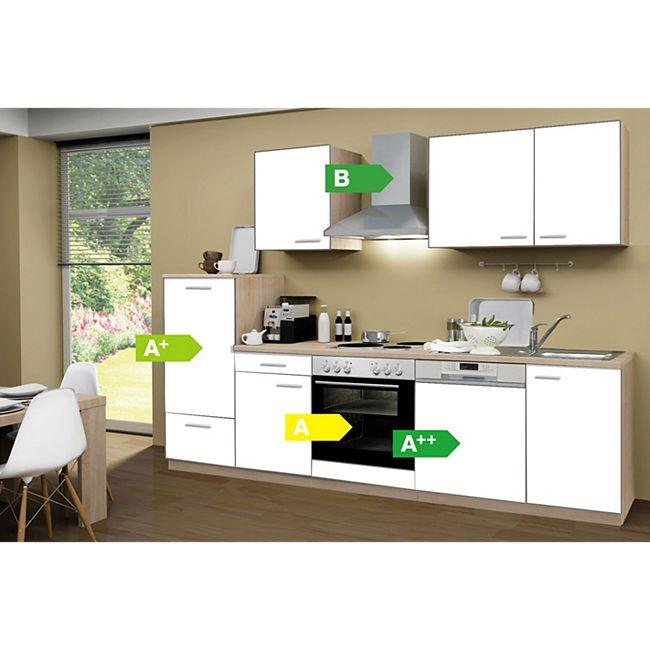 Menke Küchen Küchenzeile Classic 280 cm weiß - 4 Platten Kochfeld - Bild 1