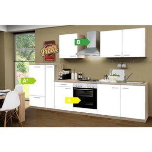 Menke Küchen Küchenzeile Classic 300 cm weiß - 4 Platten Kochfeld - Bild 1